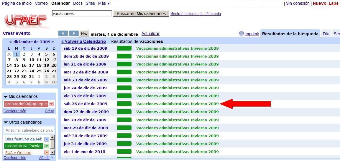 haciendo clic sobre el evento o proceso deseado aparecen detalles del evento y la opcin de copiarlo al calendario propio tal y como se muestra en la